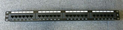 "Excel T568B 24 Port Cat5e 1U 19"" RJ45 Ethernet Rack Mountable Patch Panel"